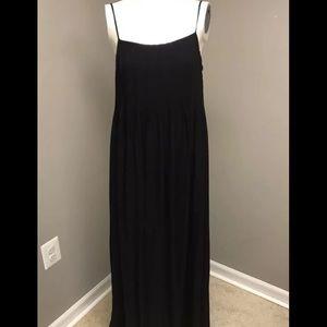 Vince Pintucked Silk Slip Maxi Dress size M $485